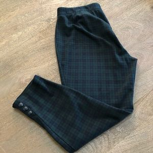 TALBOTS Skinny Ankle Pants Plaid  2X